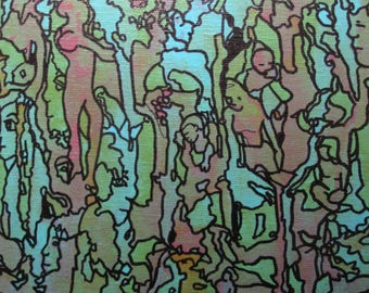 Small Original Abstract Acrylic Painting