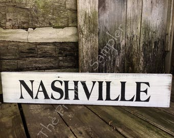 Nashville Sign, TENNESSEE Sign, Music City Sign, Nashville , Farmhouse Decor, Shabby Chic Decor, City Sign,Town Sign