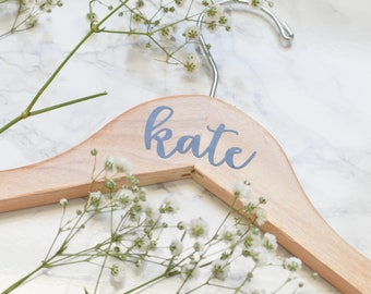 Personalized Wedding Hangers - Bridal Party Gift - Wooden Hangers