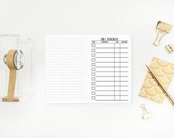 Bill Tracker Pocket Traveler's Notebook Insert – Pocket size - Midori refill - Traveller's