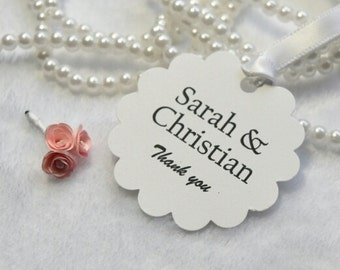 Wedding favor tag / Thank you/ set of 10 tags