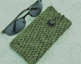 handmade phone case crochet cellphone sleeve iphone 7 galaxy S7 green cellphone cover