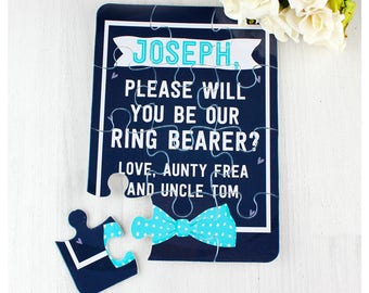 Small ring bearer/page boy proposal personalised jigsaw puzzle