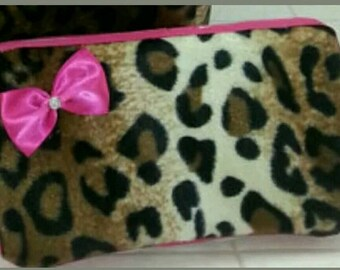 Cheetah Leopard travel wipe case. Baby. Mini storage