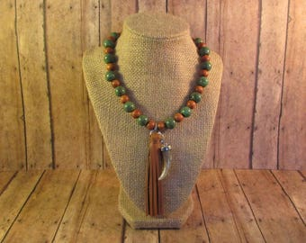 Tassel & Claw Necklace