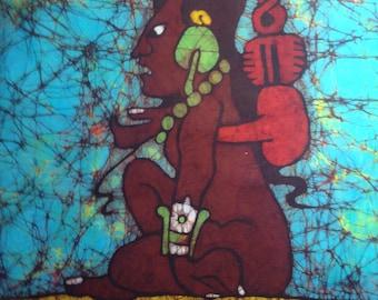 Batik of the Mayan Moon Goddess