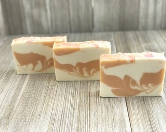 Strawberries & Champagne Scented Soap • Handcrafted • Cold process