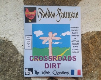 Four Way Crossroads Dirt, hoodoo tricks, voodoo conjuring, Haitian folk magic, spirit work, crossing and uncrossing, new beginnings