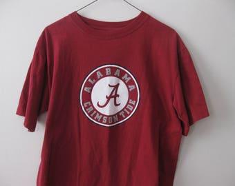 University of Alabama Crimson Tide t-shirt shirt Adult Medium Large