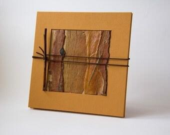 Leporello photo albums album Bark concertina, accordion, Brown