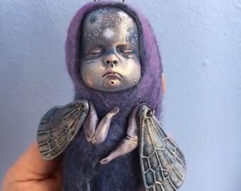 Firefly OOAK Art Sculpture Fantasy Animal Creature, BJD Custom Blythe Doll Friend. SALE!!!