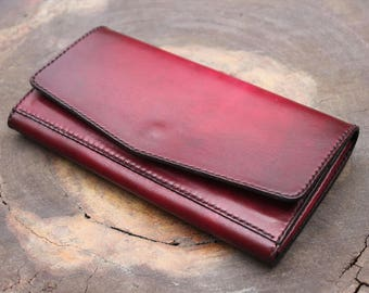 Women Leather Wallet / Personalized Leather Wallet / Handmade Leather Wallet / gift for her /womens wallet/ anniversary gift/ wallet/ VN05