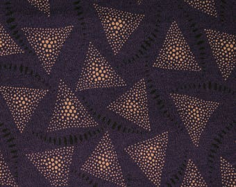Quilt Fabric Quilting Fabric Cotton Calico Purple Triangles: Fat Quarter 17x20