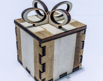 Present box wedding favor