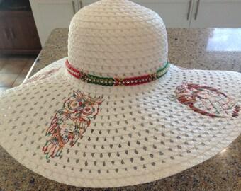 Owl sun hat