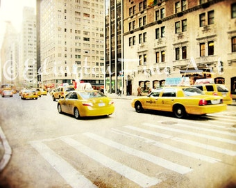Car photo, Taxi Photo, New York City Photography, cabs, travel photography, New York Cabs, yellow, urban decor, yellow car, NYC photo, car