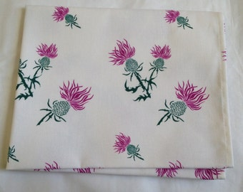 Scottish thistle tea towel - thistle print - thistle kitchen towel - in 100% cotton