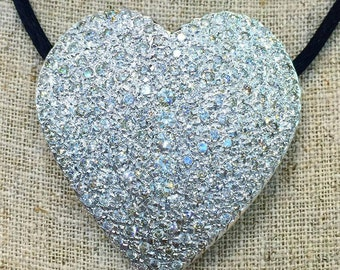 SALE! 4.50 Carat Large Diamond Heart Necklace
