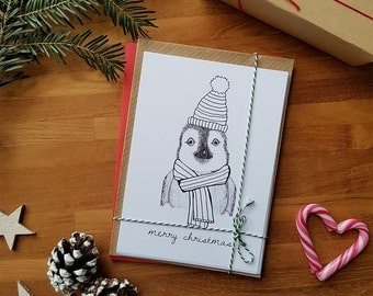 Set of 10 Christmas postcards with envelope