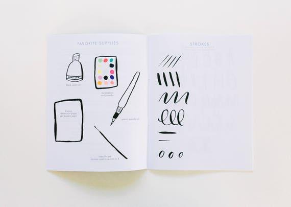 Brush lettering starter kit from beaheart on etsy studio