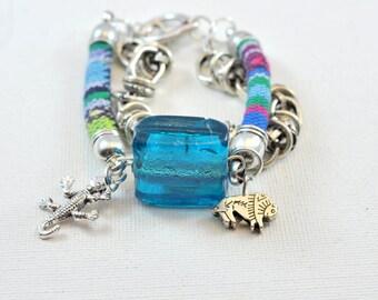 turquoise Native American ethnic bracelet