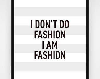 Wall art, PRINTABLE, fashion wall art, fashion gift idea, the world is my runway, fashion poster, fashion print, fashion art, 8x10, 16x20