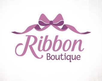 Premade Logo Design • Ribbon Curl