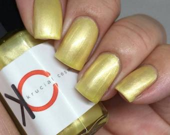 Crocus - Yellow nail polish, Light/pale yellow indie nail polish, hhandmad, cruelty-free
