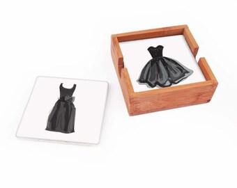 Little Black Dress Coasters