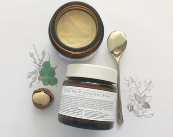 NIGHT CREAM ~ Good Night Nourish Cream ~ Nourish~Hydrate~Protect & Treat | Vegan |