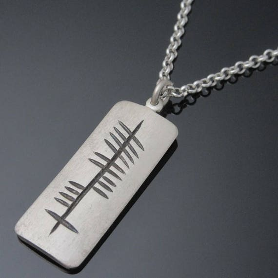 Personalized Ogham Pendant - Sterling Silver Ogham Pendant - Personalized Irish Jewelry - Designed and Made in Ireland - Unique Jewelry