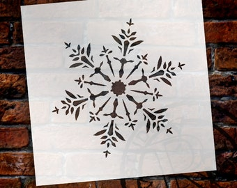 Christmas Shapes Stencil - Glittering Snowflake - Select Size - STCL1564 - by StudioR12