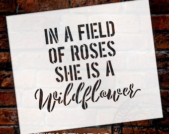 She Is A Wildflower - Word Stencil - Select Size - STCL1780 - by StudioR12