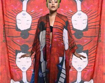 Disorder 'Arcadian' Bamboo silk Art Scarf