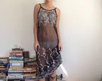 Paisley Mesh Maxi Dress S