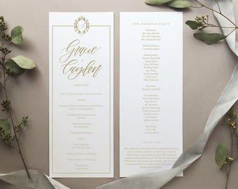 DIGITAL FILE- The Gracie Wedding Program