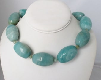 Huge Amazonite Necklace. Free Shipping