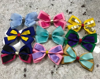 Disney Princess Inspired Hair Bows (3 PACK)