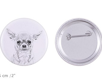 Buttons with a dog - Chihuahua