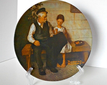 Norman Rockwell Lighthouse Plate, Norman Rockwell Plate, Rockwell Plates, Collector Rockwell Plates, Lighthouse Plates, Lighthouse Decor