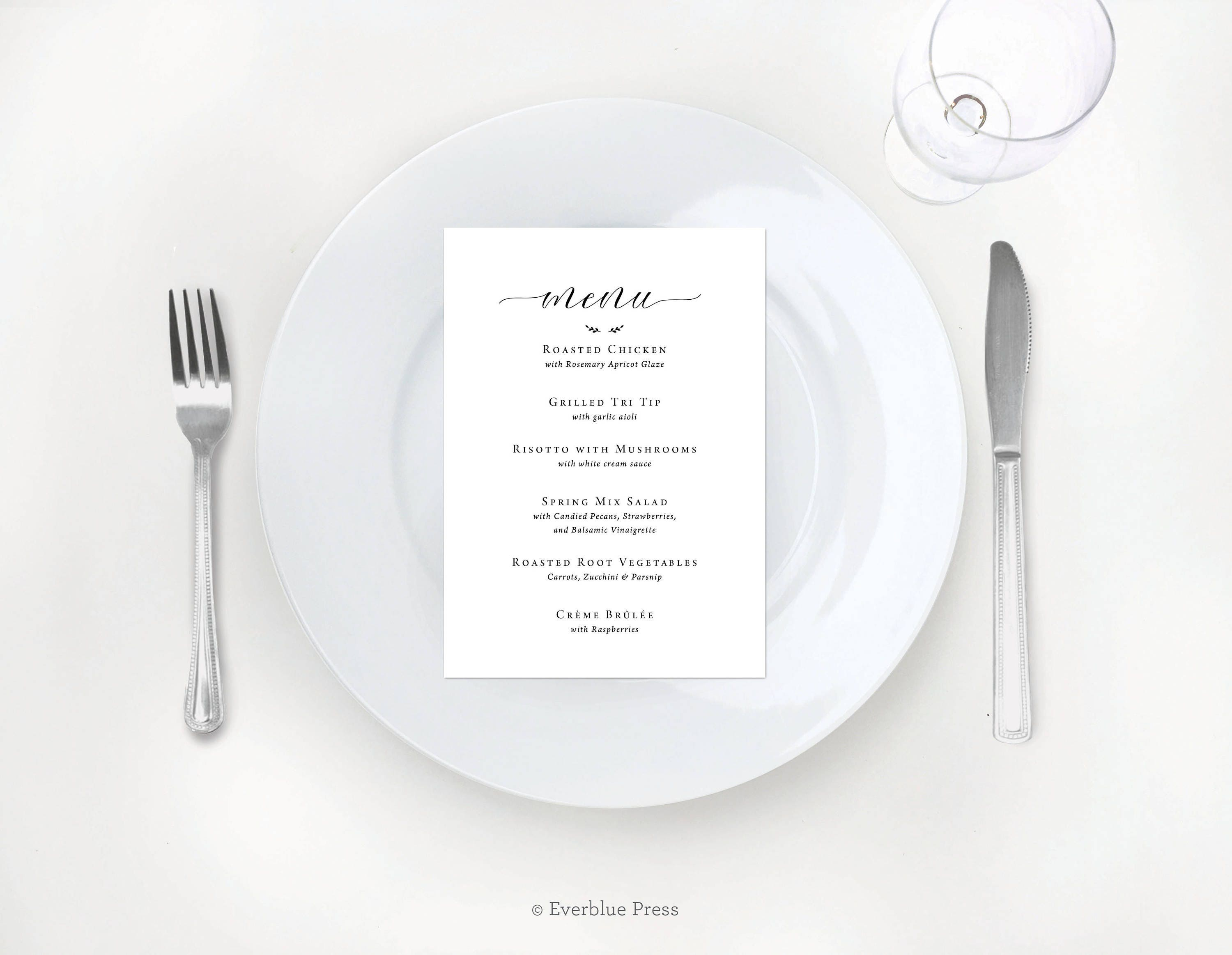 CUSTOM Digital Wedding Menu | Simple Black Calligraphy | Table Setting | 5 x 7 |  sc 1 st  shopping for Latest Fashion Womens Mens and Kids Athletic Apparel ... & CUSTOM Digital Wedding Menu | Simple Black Calligraphy | Table ...
