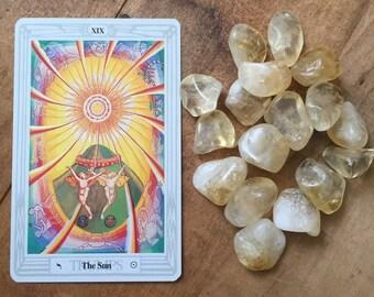 1 Beautiful Tumbled Citrine Stone // Tumbled Citrine // Stone for Prosperity // Solar Plexus Crystal