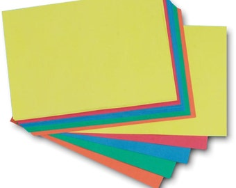 Recycled A5 Brite Card 100 Sheets 285gsm Five Bright Colour Craft Card Stock