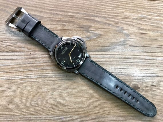 26mm watch strap, Leather watch band, handmade leather watch strap, Leather watch Band for Panerai, 24mm watch band, PAM 44mm, 47mm size