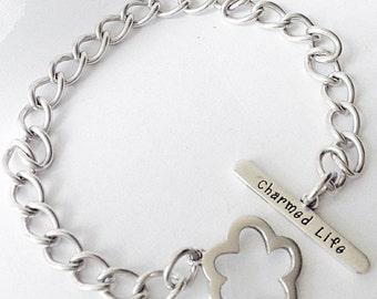 Sterling Silver Charm Bracelet, Silver Charm Bracelet, Vintage Charm Bracelet, A Charmed Life Charm Bracelet, Sterling Silver Link Bracelet
