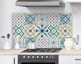 "PR00004 ""Splashguard Sorrento"" 100x60 cm printed on acrylic glass Kitchen Design Stickers"