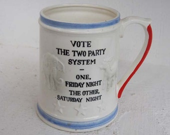 Enesco  - Funny Vintage Political 2 Party Vote Mug