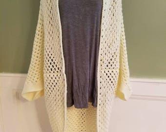 Light weight summer granny shrug/cocoon sweater