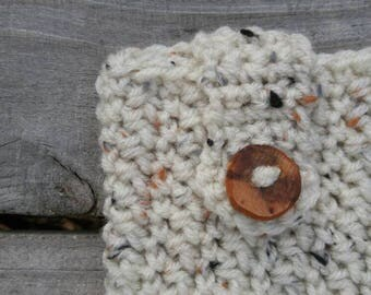 Crochet Cell Phone Case- Phone Cover- Cream Natural- Neutral - Phone Coozie- iPhone- Android- Crocheted Cozy- Beach- Spring - Summer- Gift