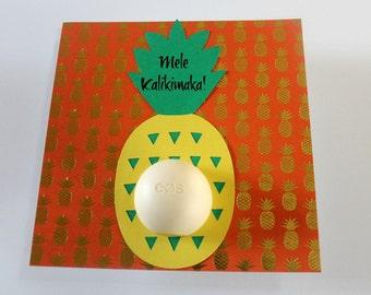 EOS Lip Balm Pineapple Card • Pineapple Lover Gift • Stocking Stuffer • Welcome Gift • EOS Lip Balm Holder • Aloha • Gifts for Her Under 20
